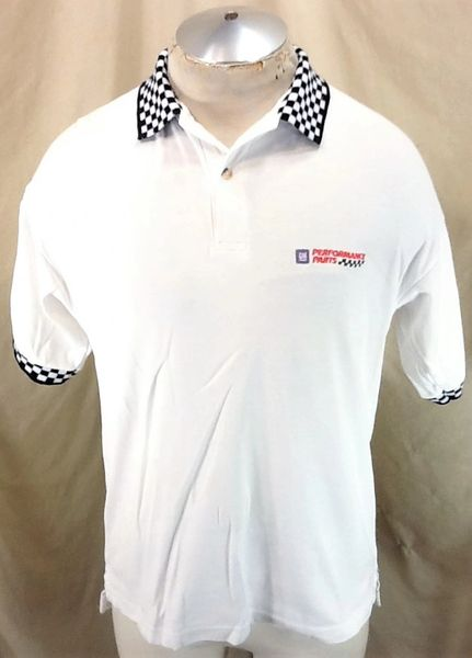 Vintage 90's GM General Motors Performance Parts (Med/Large) NASCAR Racing White Polo Shirt