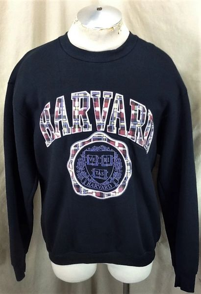 "Vintage 1991 Harvard University ""Veritas"" (XL) Retro Ivy League Graphic Crew Neck Sweatshirt"