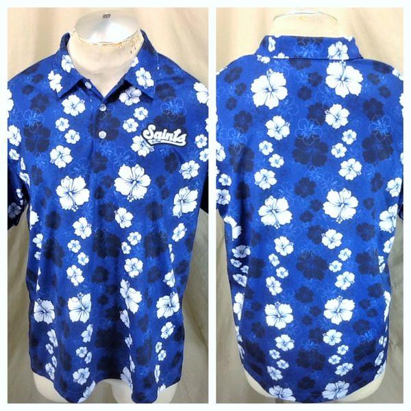St. Paul Saints Baseball Club (Large) Retro Northern League Hawaiian Themed Polo Shirt