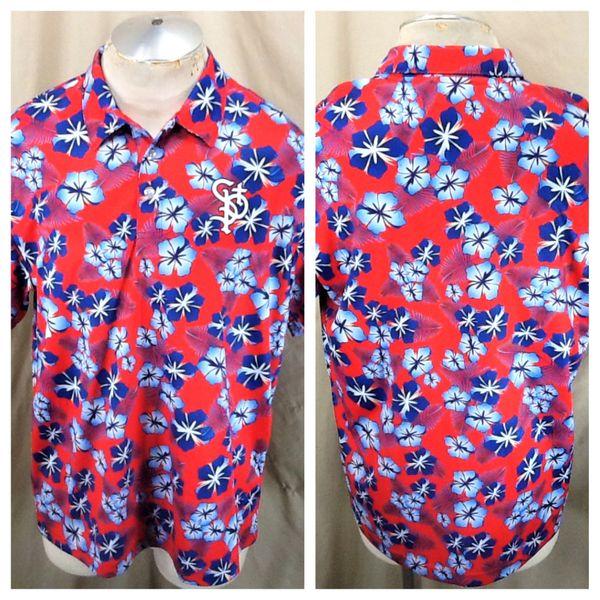 St. Paul Saints Baseball Club (Large) Northern League Retro Hawaiian Themed Polo Shirt