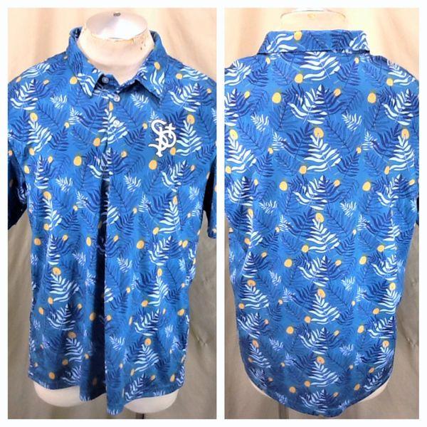 St. Paul Saints Baseball Club (Large) Northern League Retro Hawaiian Themed Aqua Polo