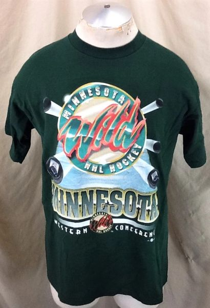 Vintage 2000's Minnesota Wild Hockey Club (Large) Retro NHL Western Conference T-Shirt