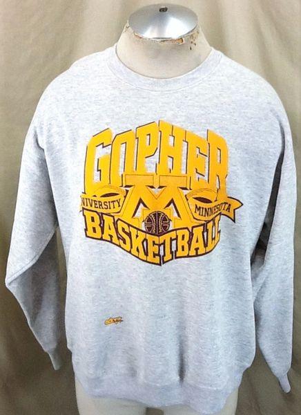 Vintage 90's Minnesota Gophers Basketball (XL) Retro NCAA Apparel Crew Neck Sweatshirt