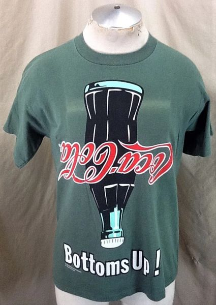 "Vintage 1994 Coca-Cola ""Bottoms Up!"" (Med) Retro Coke Soda Advertising Americana T-Shirt"