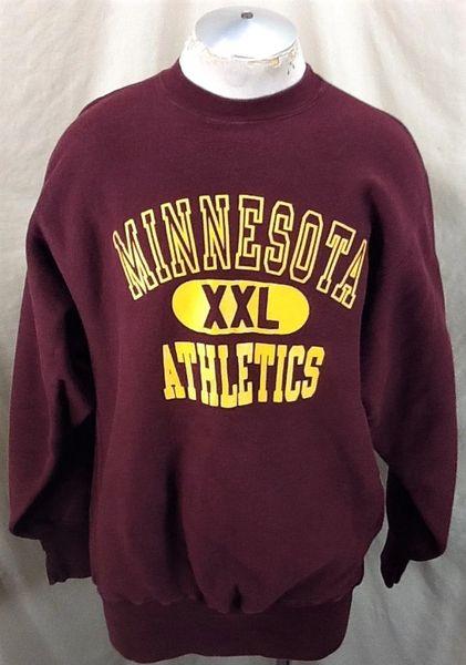 Vintage 90's Champion Minnesota Gophers (2XL) Retro Crew Neck Reverse Weave Knit Sweatshirt
