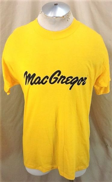 Vintage 80's MacGregor Golf Company (Large Slim) Retro Bright Yellow Single Stitch T-Shirt