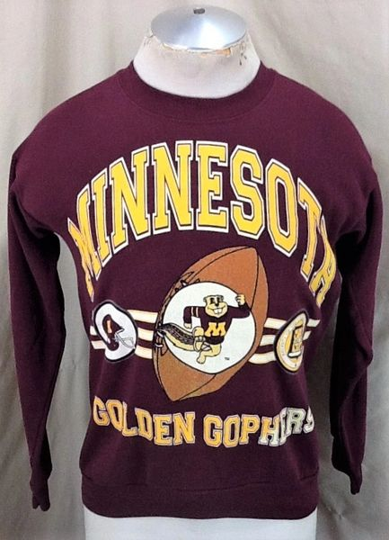 Vintage 90's Minnesota Golden Gophers (Med) Retro NCAA Football Crew Neck Sweatshirt