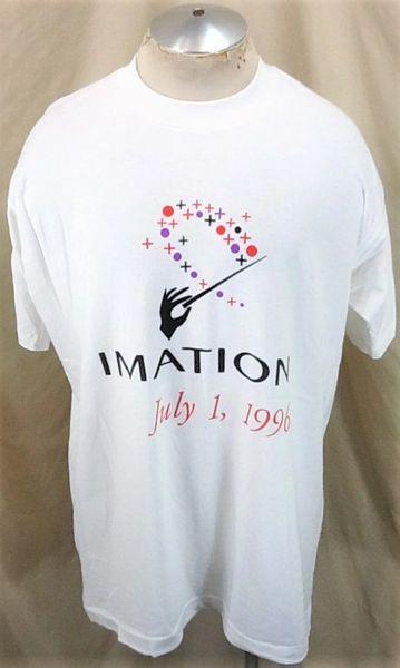 Vintage 1996 Imation Technologies July 1, 1996 (XL) Retro Classic Computing Single Stitch T-Shirt