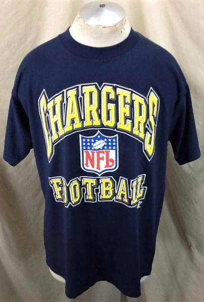 Vintage 90's San Diego Chargers Football (XL) Retro NFL Apparel Graphic T-Shirt