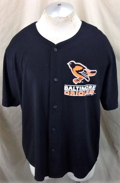 Vintage 1992 Baltimore Orioles Baseball (Large) Retro MLB Button Up Cotton Blend Jersey