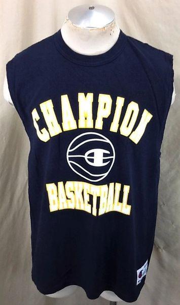 Vintage 90's Champion Basketball Logo (Large) Retro NBA Active Wear Sleeveless T-Shirt