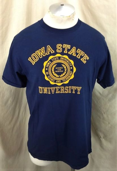 "Vintage 80's Iowa State University (Large) ""Science With Practice"" Single Stitch T-Shirt"