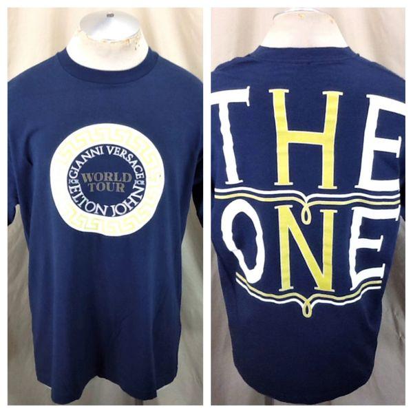 """Vintage 1992 Elton John """"The One"""" World Tour (XL) Retro Versace For Elton Graphic T-Shirt"""