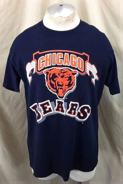 Vintage 90's Chicago Bears Football Club (Large) Retro NFL Graphic Single Stitch T-Shirt
