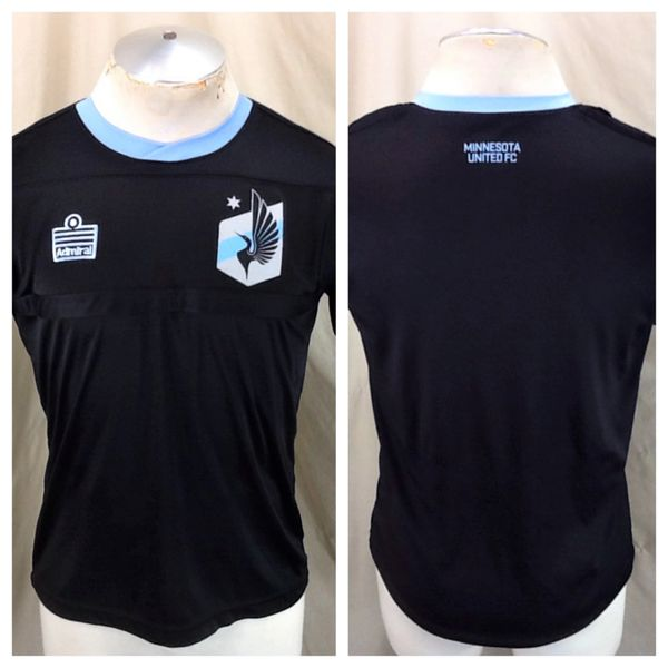 Admiral Minnesota United Loons Futbol Club (Small) Retro MNUFC Pullover Black Soccer Kit