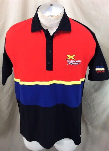 """Vintage 90's Polaris Racing """"Genuine Race Gear"""" (Large) Retro Gear Heads Embroidered Polo Shirt"""