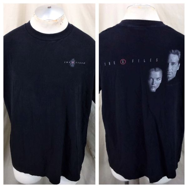 """Vintage 1997 The X-Files """"Mulder & Scully"""" (XL) Retro Classic Television Faded T-Shirt"""