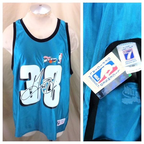 New! Vintage 90's Grant Hill #33 Detroit Pistons (XL) Retro NBA Basketball Graphic Jersey