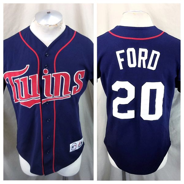 Vintage Majestic Minnesota Twins Lew Ford #20 (Small) Retro MLB Stitched Baseball Jersey