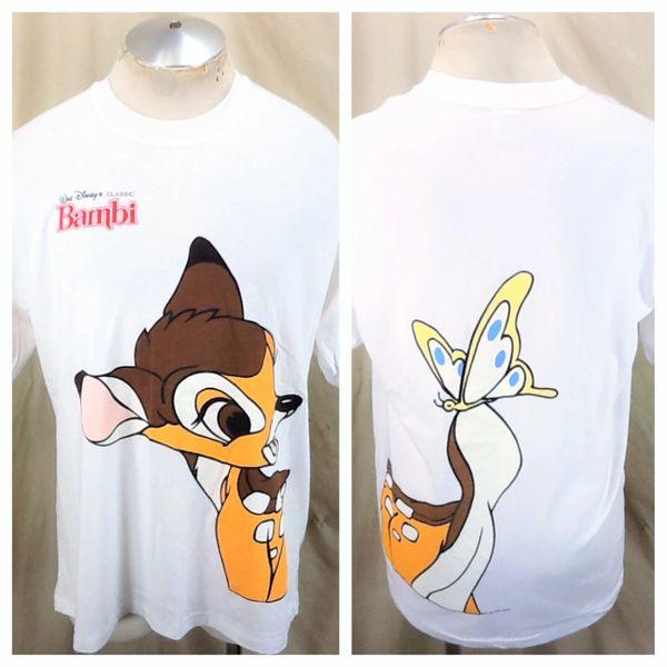 Vintage 1980's Walt Disney's Classic Bambi (XL) Retro Cartoon Single Stitch Graphic T-Shirt
