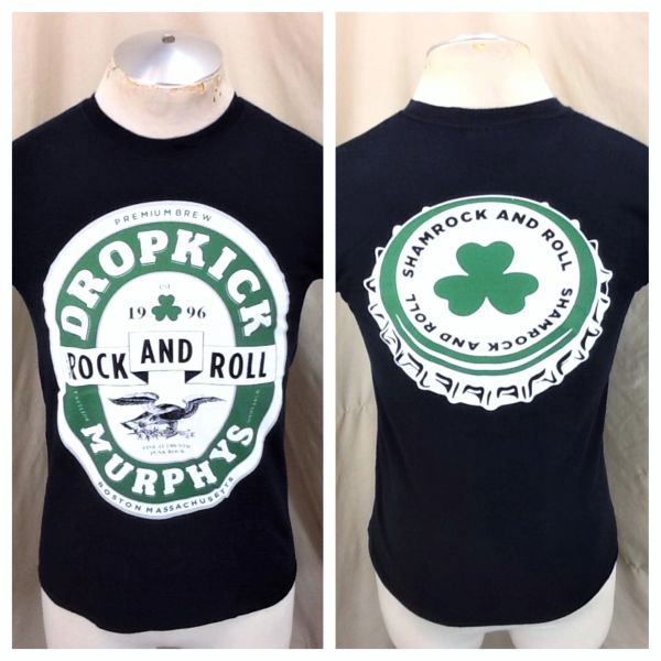 "Dropkick Murphys ""Sham Rock & Roll"" (Small) Retro Punk Rock Black Concert T-Shirt"