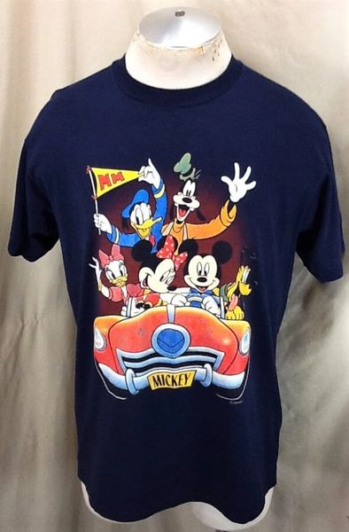 "Vintage 90's Disney's Mickey Mouse ""Easy Street"" (Large) Iconic Cartoon Characters Graphic T-Shirt"