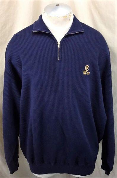 Vintage Polo Ralph Lauren CP RL 93 (2XL/3XL) Pullover Quarter Zip Sweatshirt
