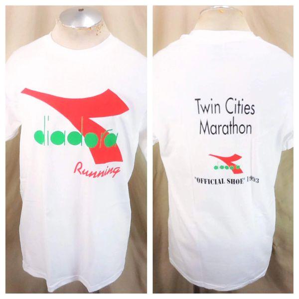 "1993 Diadora Running ""Official Shoe"" (Large) Vintage Twin Cities Marathon T-Shirt"