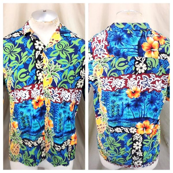 Vintage Hawaiian Reserve Collection (Med) Button Up Floral Hawaiian Rayon Shirt