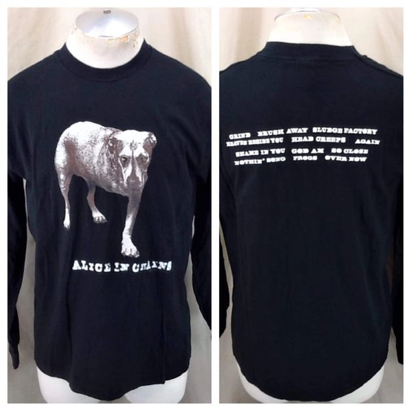 """***SOLD Vintage 1995 Alice In Chains """"Track List"""" (Large) Seattle Grunge Long Sleeve Band Shirt"""