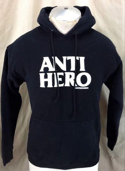 "Vintage Anti Hero Skateboards ""Rise Above"" (Small) Pullover Black Anti Hero Hoodie"