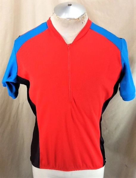 Vintage Cannondale Biking Active Wear (Large) Pullover Half Zip Cycling Jersey