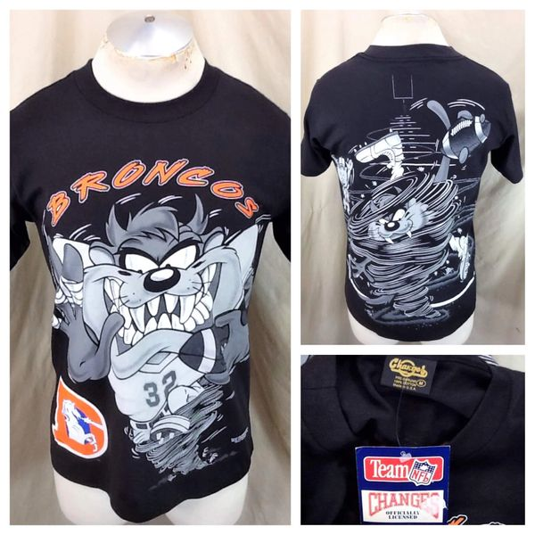 "New! Vintage 1994 Denver Broncos ""Taz"" (Med) Looney Tunes NFL Single Stitch T-Shirt"