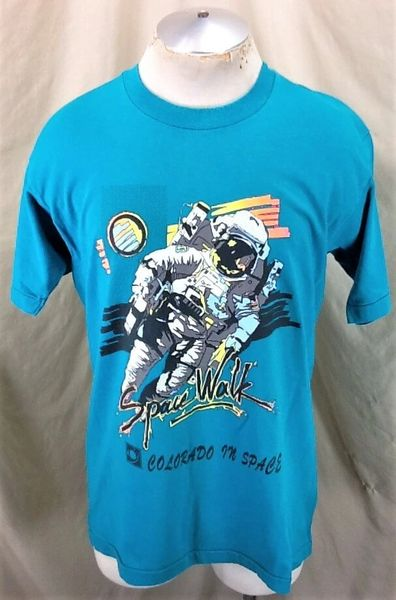 "Vintage CU Boulder ""Colorado in Space"" (Large) Spacewalk Single Stitch 90's T-Shirt"