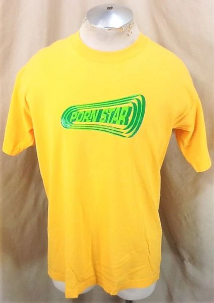 Vintage 90's Porn Star Clothing Brand (Large) Classic Skateboard Graphic T-Shirt