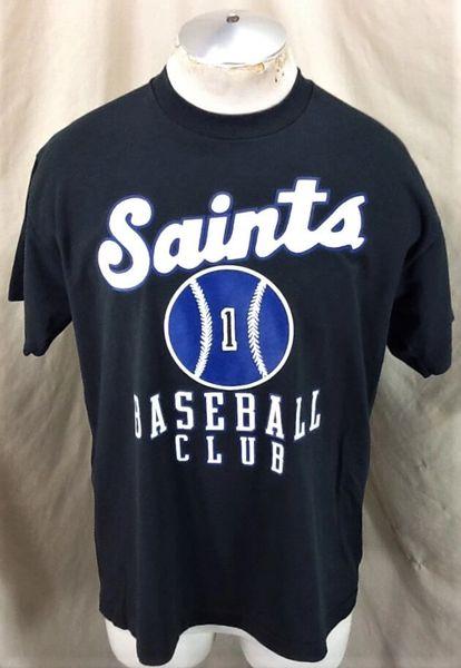 Vintage 90's St. Paul Saints Baseball (XL) Minor League Baseball Black T-Shirt