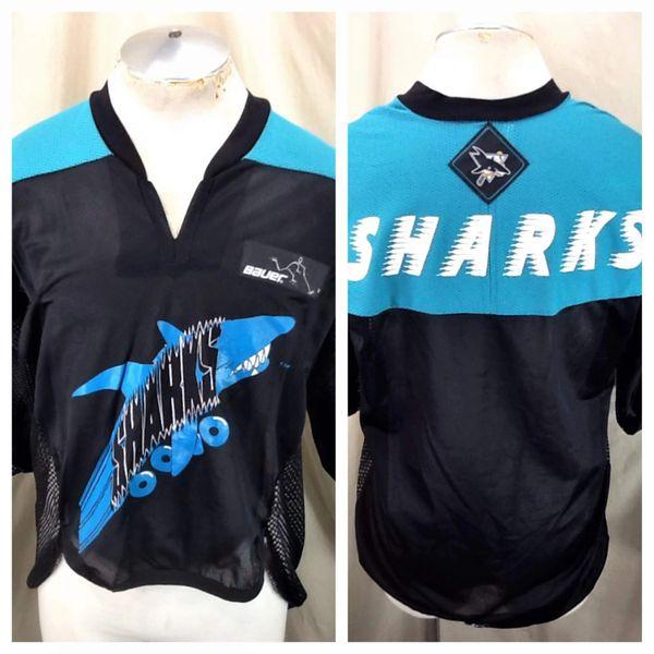 San Jose Sharks Roller Hockey (Large) Vintage NHL Bauer Off Ice Hockey Jersey