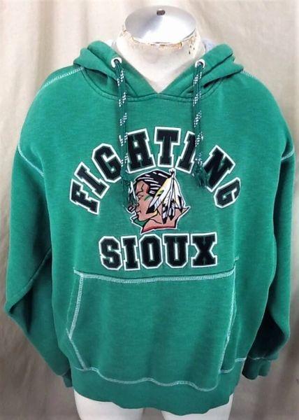 North Dakota Fighting Sioux Hockey (Large) Stitched Graphic Hooded Sweatshirt