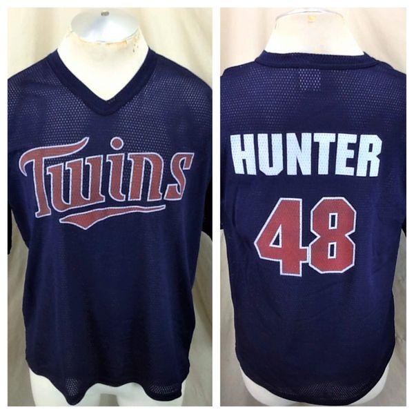 Vintage Torii Hunter #48 Minnesota Twins (Large) In Stadium Graphic Promo Jersey