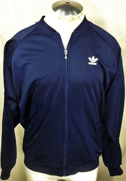 Vintage 90's Adidas Trefoil Active Wear (XL) Retro Hip-Hop Streetwear Track Jacket