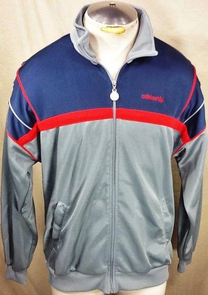 Vintage 90's Adidas Trefoil Hip-Hop (Large) Retro Street Wear Zip Up Track Jacket