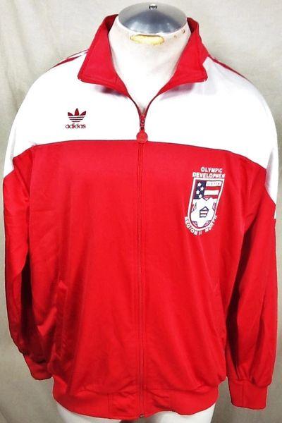 Vintage Adidas USYSA Olympic Soccer (XL) Retro Development Region II Zip Up Track Jacket