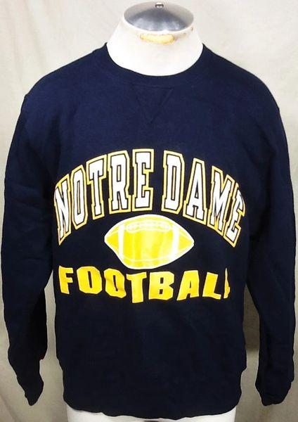 Vintage 90's Champion Notre Dame Fighting Irish (Large) Retro Crew Neck Football Sweatshirt