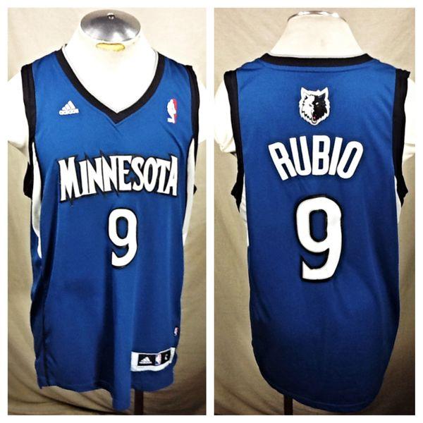 Adidas Ricky Rubio Minnesota Timberwolves Large Stitched Nba