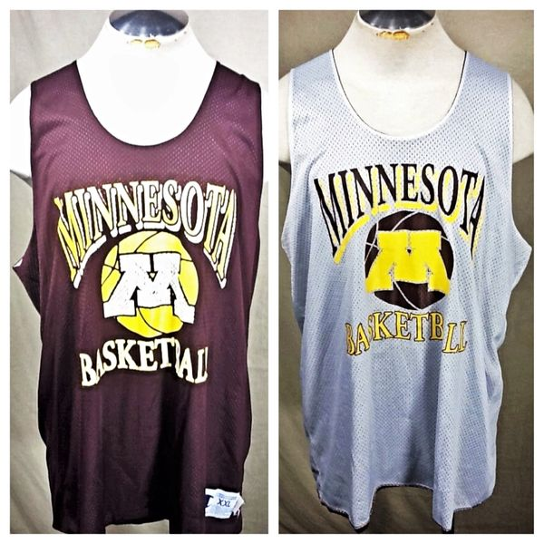 Vintage 90's Champion Minnesota Gophers Basketball (2XL) Retro NCAA Reversible Practice Jersey