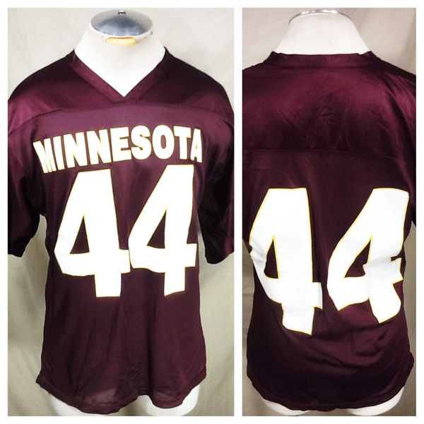 Vintage 90's Minnesota Gophers #44 (Large) Retro NCAA Graphic Maroon Football Jersey