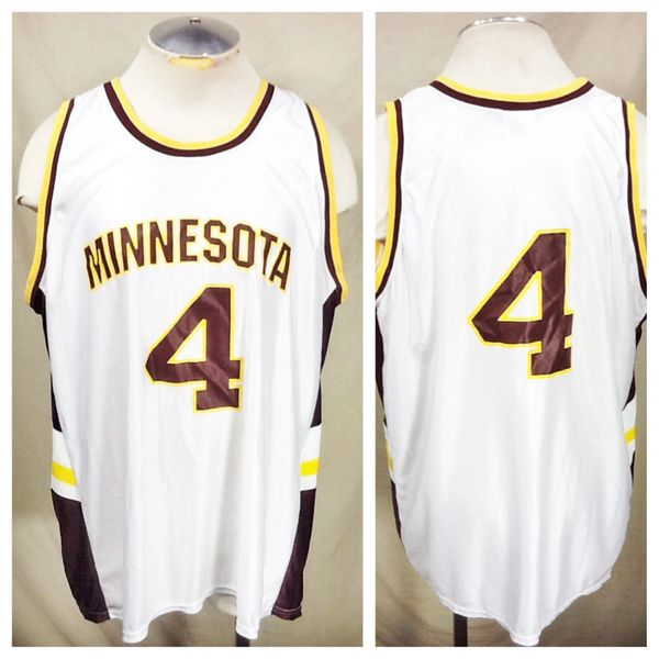 Vintage Minnesota Gophers Baketball (Large) Retro NCAA Polyester Basketball Jersey