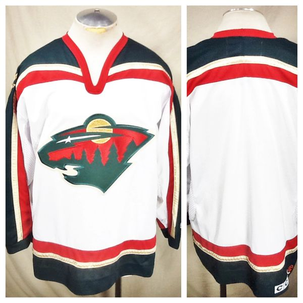 Vintage CCM Minnesota Wild Hockey Club (Medium) Retro NHL Stitched White Jersey