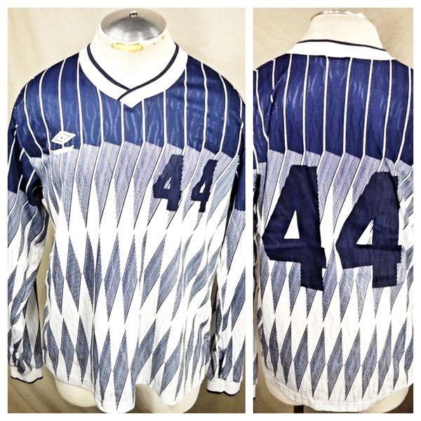 Vintage Umbro Diamond Pattern #44 (L/XL) Retro Futbol All Over Graphic Dri-Fit Soccer Jersey