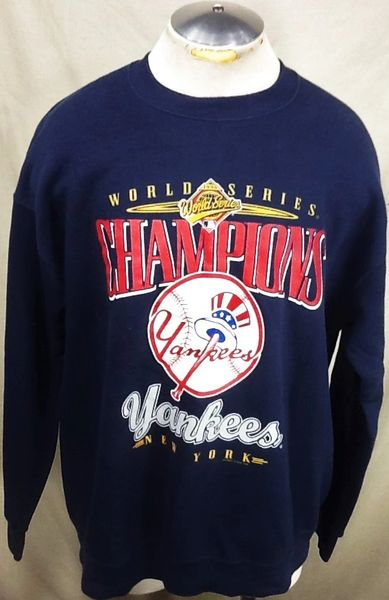 "Vintage 1996 New York Yankees ""World Series Champions"" (XL) Retro MLB Baseball Crew Neck Sweatshirt"